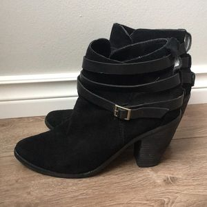 Dolce Vita suede ankle booties with straps